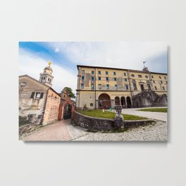 Spring afternoon in the city of Udine Metal Print