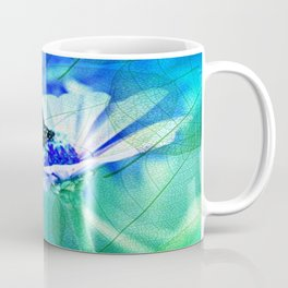 Butterfly, Flower And Leaves Coffee Mug
