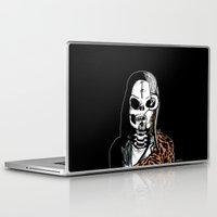 kurt cobain Laptop & iPad Skins featuring Skull Cobain by zombieCraig by zombieCraig