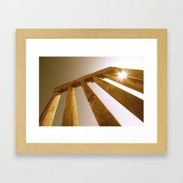 Ancient Roman Columns Framed Art Print