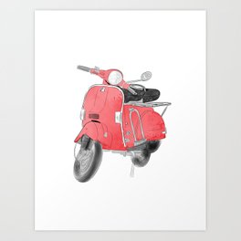 Red moto Art Print