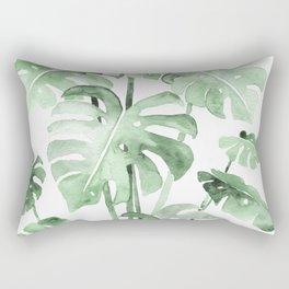 Delicate Monstera Green #society6 Rectangular Pillow