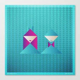 Music in Monogeometry : She & Him Canvas Print