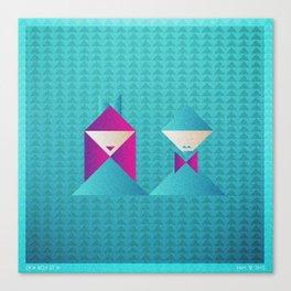 Music in Monogeometry : She & Him Canvas Print
