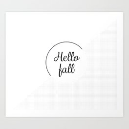Hello fall | minimilist grid Art Print