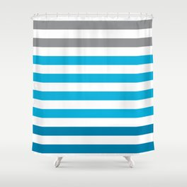 Stripes Gradient - Blue Shower Curtain
