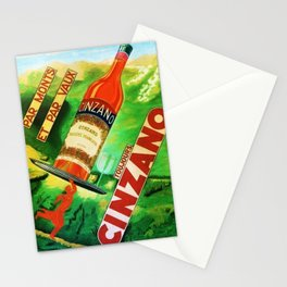 Rare 1930's Vintage Par Monts Toujours Cinzano Advertisement Poster Stationery Cards