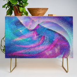 Colorful Hurricane Digital Painting Credenza