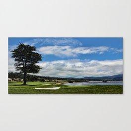 Pebble Beach - The 18th Hole Canvas Print