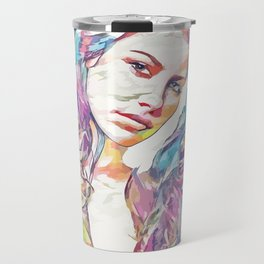 Evangeline Lilly (Creative Illustration Art) Travel Mug