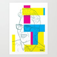 tyler oakley Art Prints featuring Tyler Oakley by Antonio Páramo