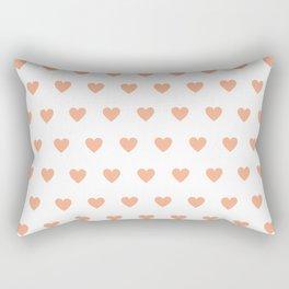 Polka dot hearts - pink Rectangular Pillow