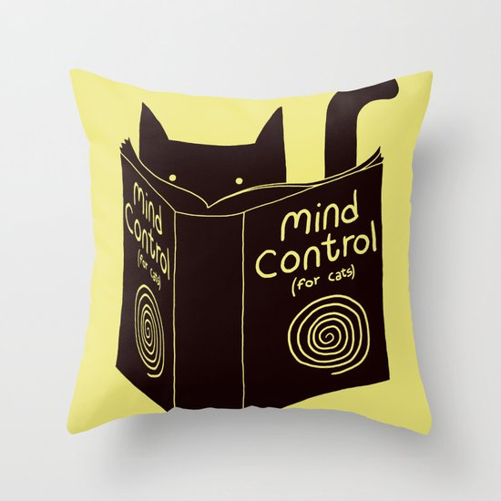 Mind Control (buy this) Throw Pillow