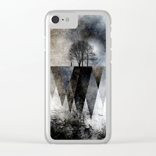 TREES over MAGIC MOUNTAINS II Clear iPhone Case