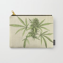 Vintage botanical print - Cannabis Carry-All Pouch