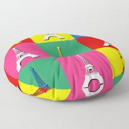 Pop art Paris Floor Pillow