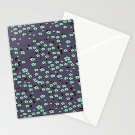 Petite Floral Turquoise Collection Stationery Cards
