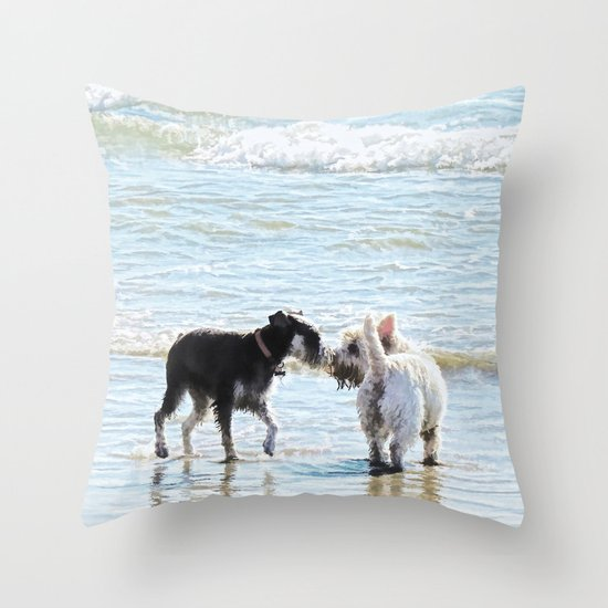 Sweet Meet Throw Pillow