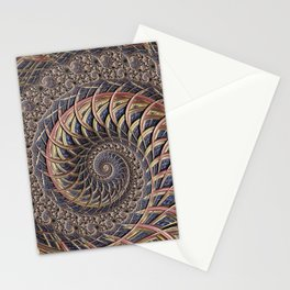 Spiral abstract Stationery Cards
