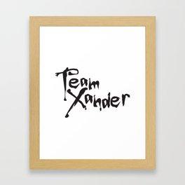 Team Xander Framed Art Print