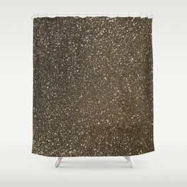 Bronze Gold Burnished Glitter Shower Curtain