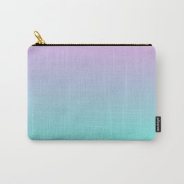 TROUBLED YOUTH - Minimal Plain Soft Mood Color Blend Prints Carry-All Pouch