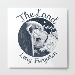 The Land Long Forgotten (w. text) Metal Print