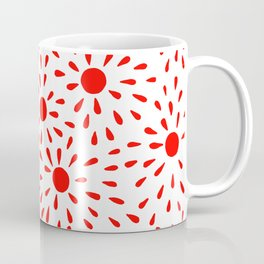 Red sunburst Coffee Mug