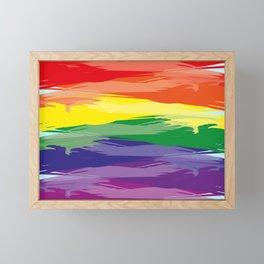 Abstract Rainbow Framed Mini Art Print