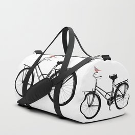 Baker's bicycle with bird Duffle Bag
