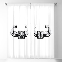 The Gun Show Gym Quote Blackout Curtain