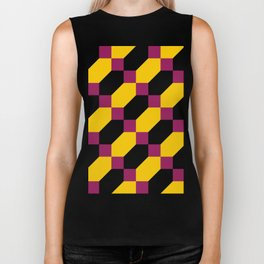Polygons and squares. Simple. I thought about a chainmail, don't know why. Biker Tank