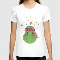 pear T-shirts featuring Hippie Pear by haidishabrina
