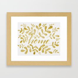 Watercolor home foliage – yellow Framed Art Print