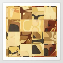 Mid Century Modern Pattern Geometric Art by Michel Keck Art Print