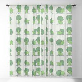 Broccoli Yoga Sheer Curtain