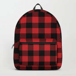 Buffalo Plaid Rustic Lumberjack Buffalo Check Pattern Backpack