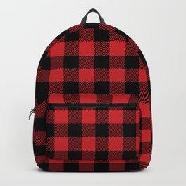 Buffalo Plaid Rustic Lumberjack Buffalo Check Pattern Backpack