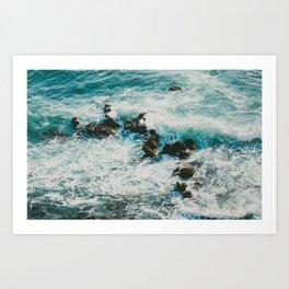 Palos Verdes Surf Art Print