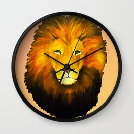 Halftone Lion Wall Clock
