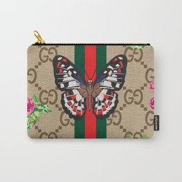 Guci Butterfly Carry-All Pouch