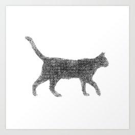 Dust kitten Art Print
