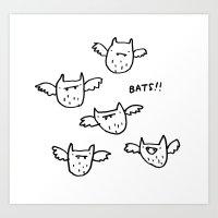 bats Art Prints featuring Bats!! by Sophie Corrigan