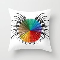 insect Throw Pillows featuring İnsect by kartalpaf