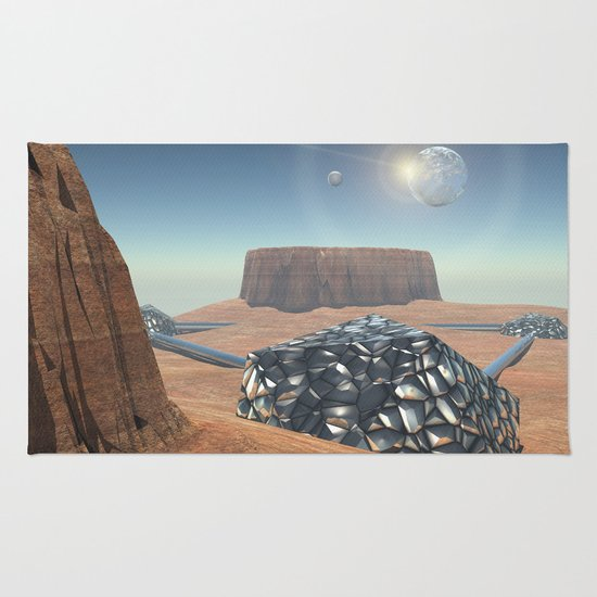 Mars Babylon Colony, view of Armageddon  Rug