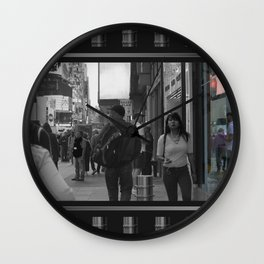 Reflections in Color: New York City Wall Clock