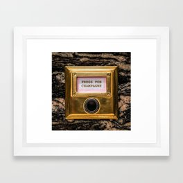 Champers Framed Art Print