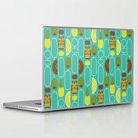 tiki Laptop & iPad Skins featuring Tiki Weekend by AllisonBeilke