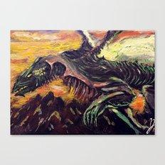 Blight Dragon Canvas Print
