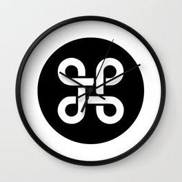 Command Apple Mac Ideology Wall Clock